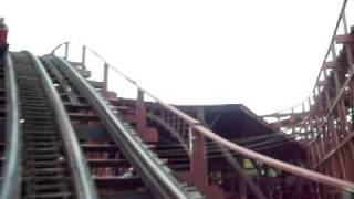 Racer at Kennywood Park Right Side (Blue Car) POV