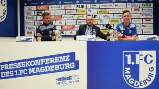 Pressekonferenz vor dem Spiel SSV Jahn Regensburg gegen 1. FC Magdeburg