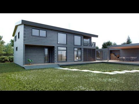 Интерьер дома из бруса. Дизайн современного дома из клееного бруса.