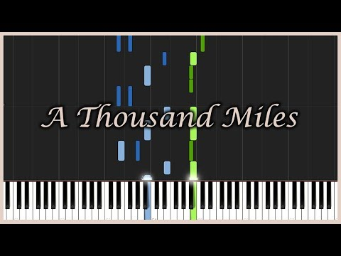 A Thousand Miles  Vanessa Carlton Piano Tutorial Synthesia  MrMeeseeks Piano