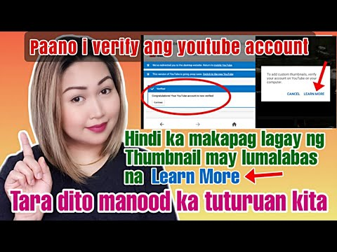 HOW TO VERIFY YOUR YOUTUBE ACCOUNT | TAGALOG TUTORIAL