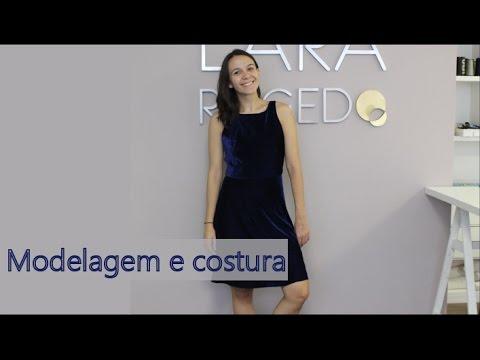 fb891b3cd78 Modelagem e costura do vestido de veludo molhado - YouTube