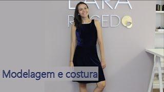 Modelagem e costura do vestido de veludo molhado