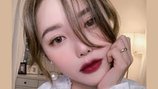 Daily Burgundy Makeup🥀 (With sub) 데일리 버건디 메이크업