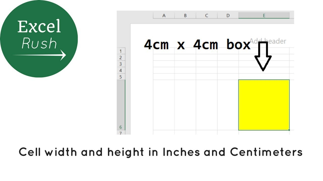 How To Set Cell Width And Height In Cm And Inches In Excel For