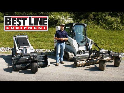 Restore Gravel Driveway With Best Line Equipment Bobcat Soil Conditioner.