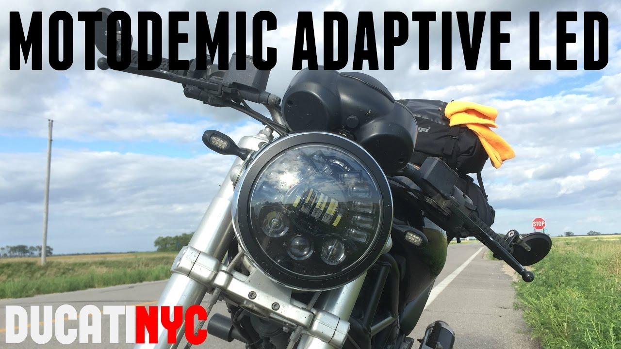 Motodemic Adaptive Led Headlight Install Ducati Monster 620 Youtube