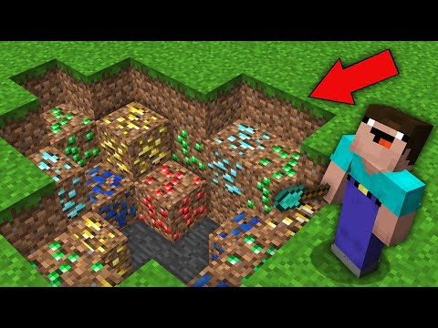 Minecraft NOOB vs PRO: NOOB DIGGING PIT BUT FOUND RAREST ORE IN DIRT! Challenge 100% trolling