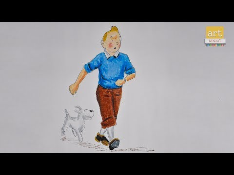 How to draw tintin and snowy II By Art JanaG