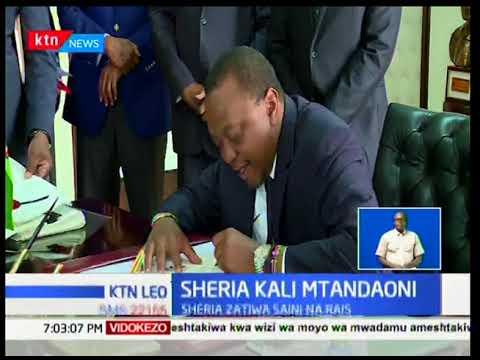 Rais Uhuru ametia saini sheria kali za kudhibiti matumizi ya mitandao:Ktn Leo full bulletin