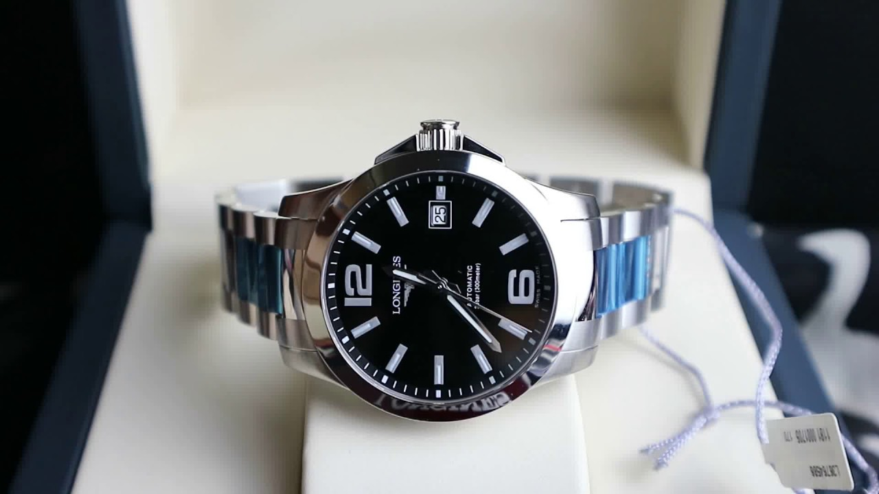 Longines Hydroconquest Automatic >> Longines Conquest Automatic 39 mm Ref. L3.676.4.58.6 - YouTube