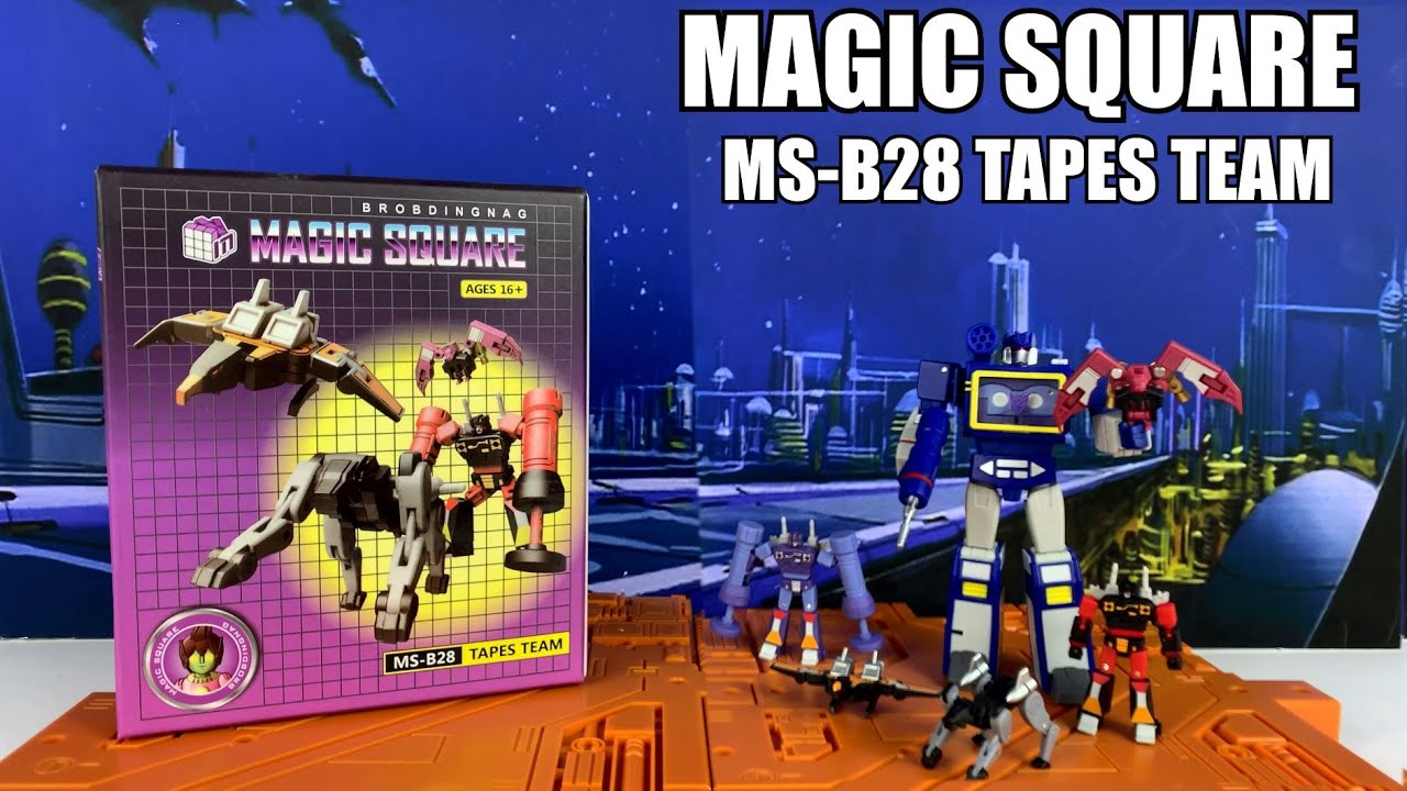 Third Party Transformers Magic Square MS-B28 Tapes Team Unboxing and Review by Enewtabie