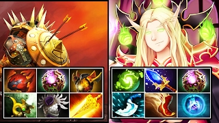 Mage- Invoker & Miracle- Bristleback 2 MAGIC MAN IN ONE TEAM - Dota 2