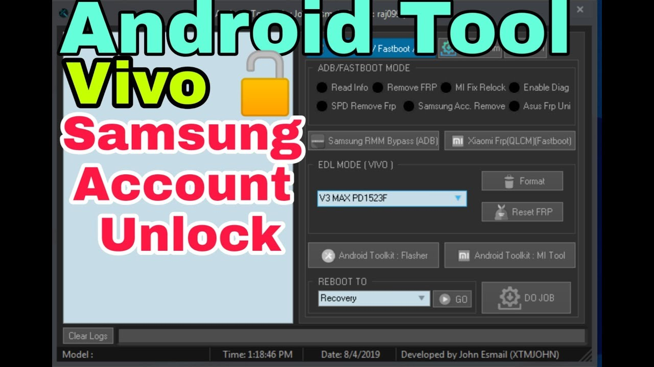 samsung account (Unlock) Android Tool With Registration Without Any Box