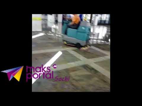 В Сочи затопило аэропорт