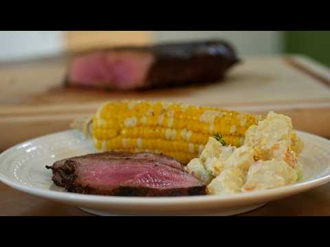 Dry Rubbed London Broil Steak