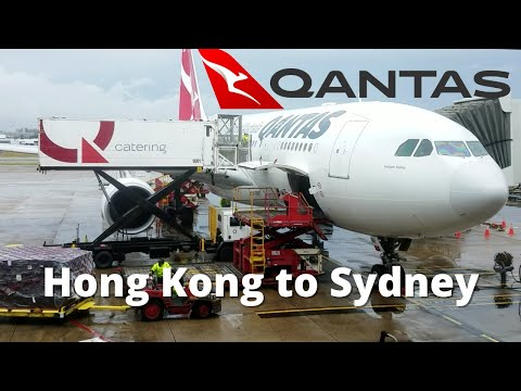 Super Storm In Sydney From Hong Kong On Qantas QF118 Airbus A330-200