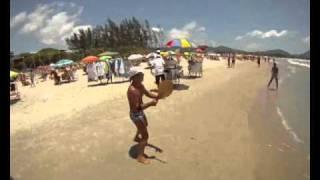 Frescobol na Praia da Barra da Lagoa - SC