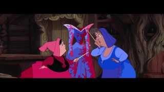 La Bella Durmiente - Las hadas preparan el vestido (Doblaje Original)