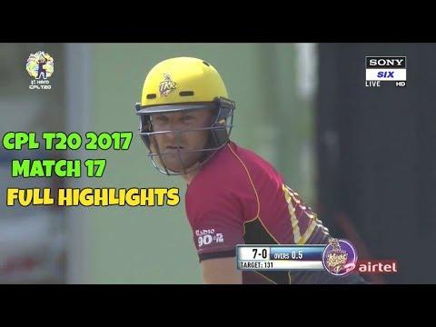 CPL T20 2017 Match 17 Full Highlights - Guyana Amazon Warriors vs Trinbago Knight Riders