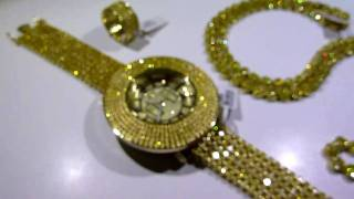 "LEMONADE COMBO #2! Lab Made YELLOW Diamond ""Watch+Chain+360 Ring"" video - Gucci Mane jewelry"
