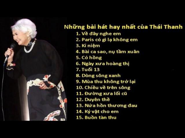 Những bài hát hay nhất của Thái Thanh