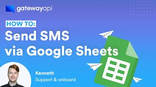 How to send SMS messages via Google Sheets using GatewayAPI and Integromat