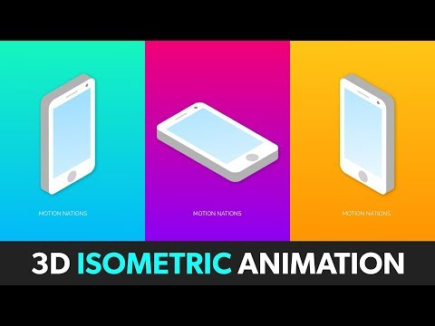 3D Isometric Phone Animation in After Effects - After Effects Tutorial - No Third Party Plugin