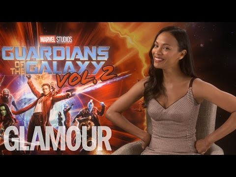 Zoe Saldana talks Beyoncé copying her and working with Chris Pratt | Glamour UK