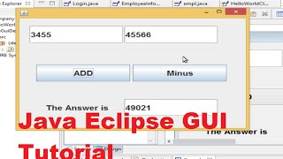 Java Eclipse GUI Tutorial 2 # Creating A Simple Calculator Using JFrame(, 2014-07-28T14:38:29.000Z)
