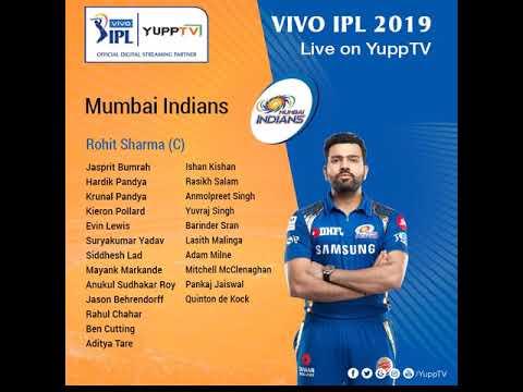 IPL 2019 Squad | VIVO IPL 2019 Teams Full Squad | IPL 2019
