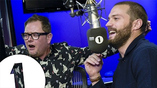 Jamie Dornan plays HUNT THE SAUSAGE with Alan Carr and Nick Grimshaw