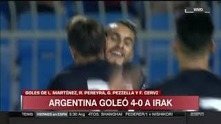 Resumen  Argentina vs Irak 4-0 Amistoso