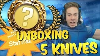CS GO UNBOXING 5 KNIVES + AWP Medusa Trade Up