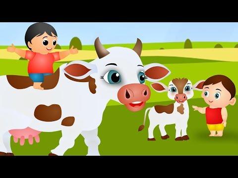Gaiya Meri - Hindi Rhymes | गैया मेरी | Hindi Nursery Rhymes for Kids | 3D Cartoon Animation Rhymes