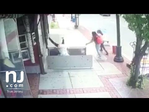 Woman falls into open sidewalk doors in Plainfield