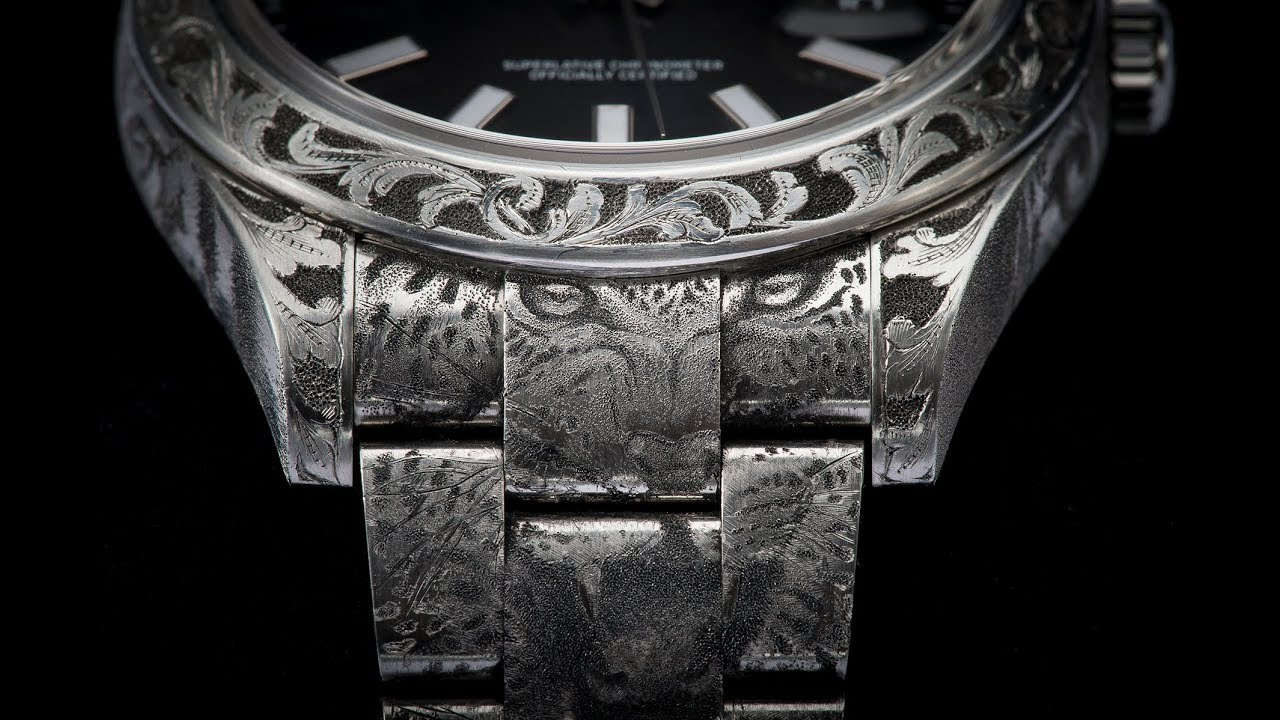 watch wrist skeleton original engraved mechanical engraving product by watches