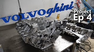 Welding of broken Lamborghini engine block. Volvoghini Project!