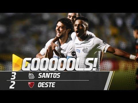Santos 3 x 2 Oeste | GOLS | Paulistão (02/03/19)