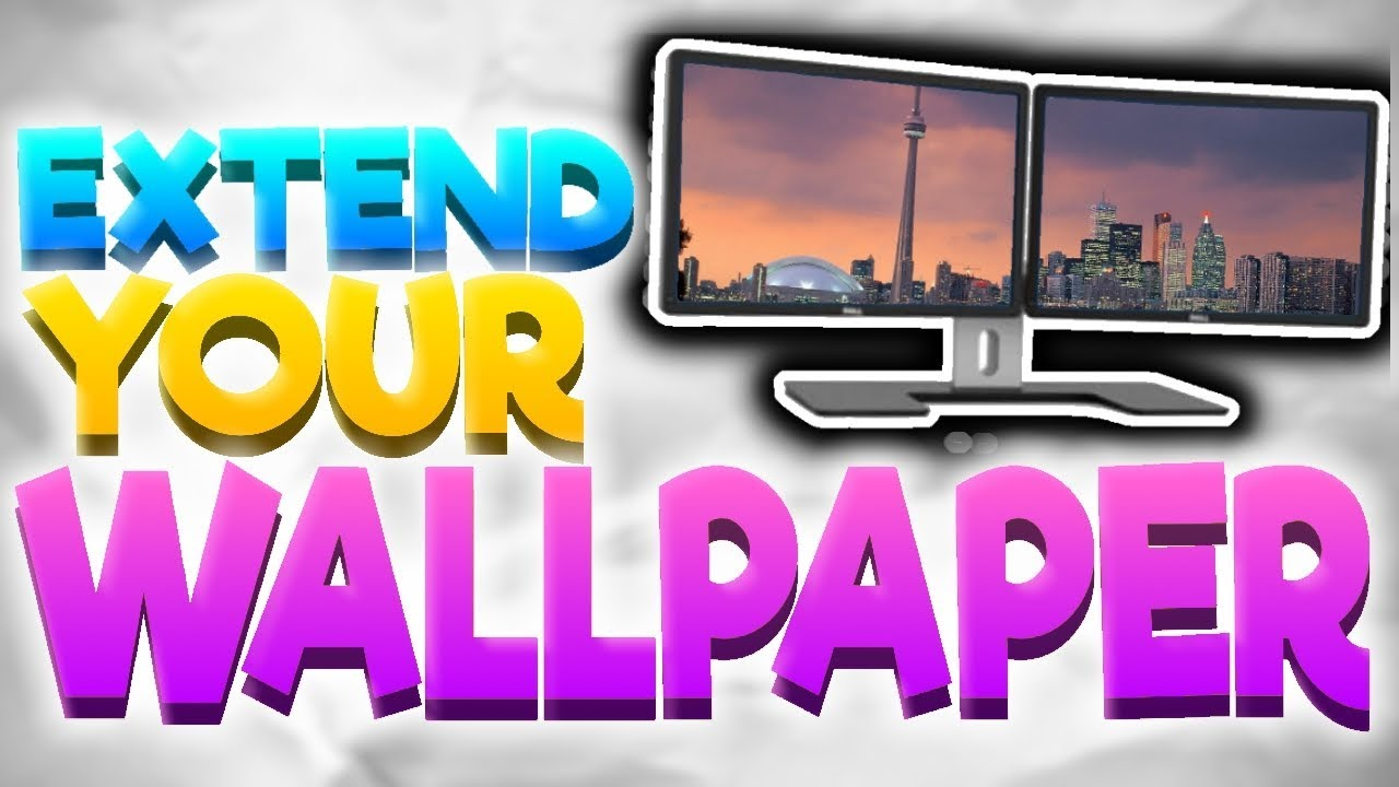 How To Extend/Span Your Wallpaper Across Dual Monitors - YouTube