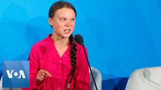 Climate activist greta thunberg delivered an emotional speech deriding world leaders for change inaction at a united nations summit, monday, septembe...