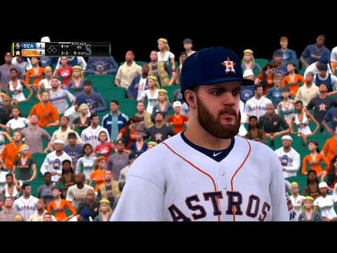 MLB The Show 16 Updated 2017 Roster Vaults Seattle Mariners vs Houston Astros 4/3/2017