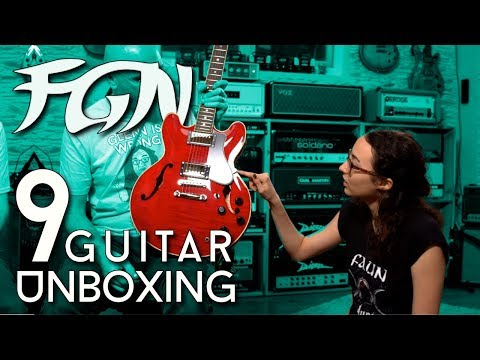 9 !!!!!! FGN Guitar Mega Unboxing With Kiana And Carl