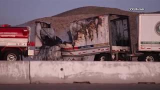 Gambar cover 2 killed in semi crash on 15 freeway in Apple Valley