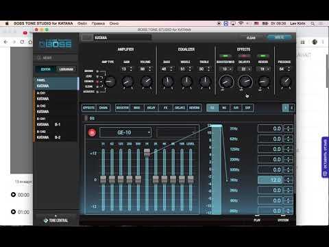 видео: вопрос по  сохранению  пресетов boss tone studio