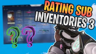 Rating Subscriber VALORANT Inventories! (WOW SKINS) #3