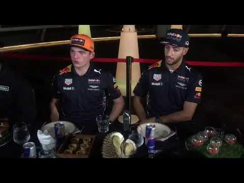 Red Bull's Max Verstappen and Daniel Ricciardo.