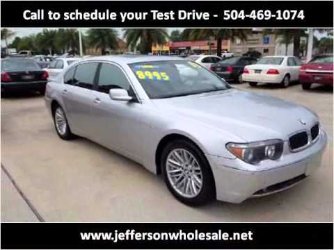 2003 BMW 7Series Used Cars Kenner LA  YouTube