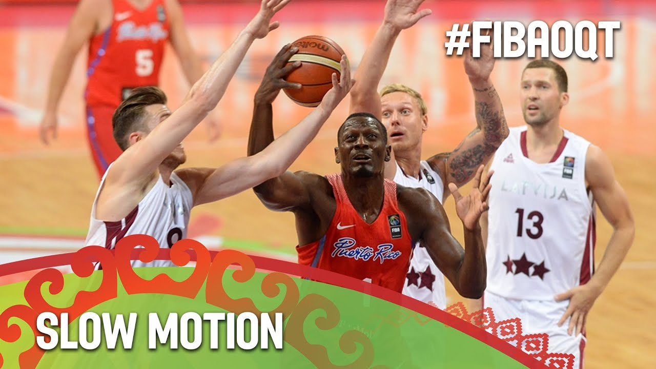 Latvia v Puerto Rico in slow motion!