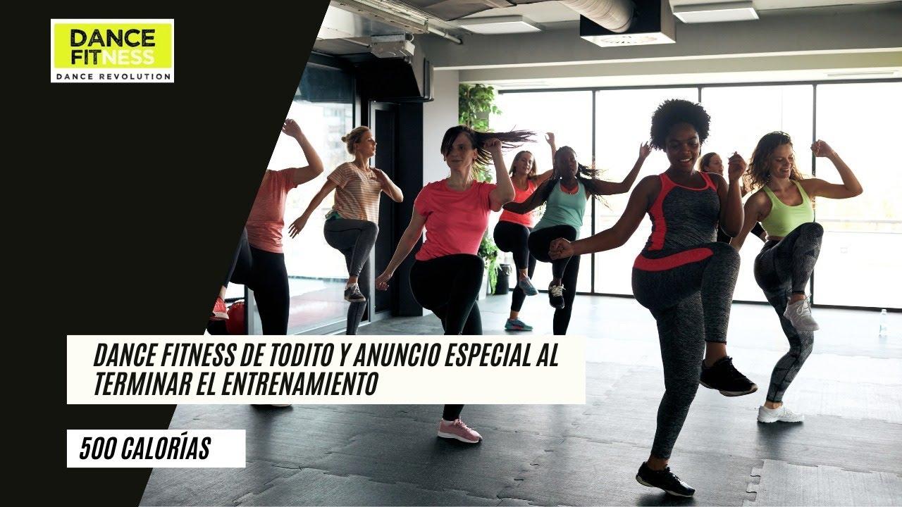 dance fitness de todito mas anuncio especial al terminar el entrenamiento.